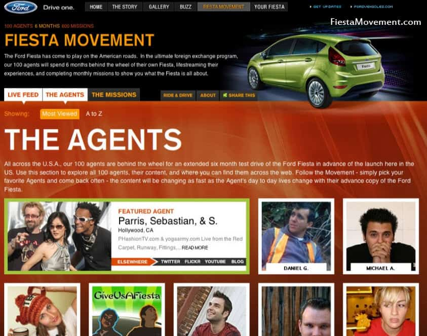 Fiesta Movement agents