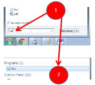 open- run dialog box