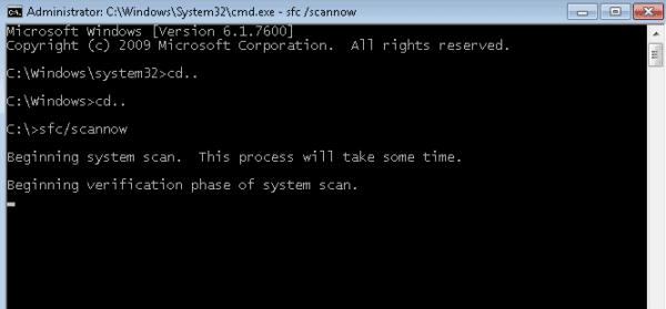 sfc-scannnow cmd command