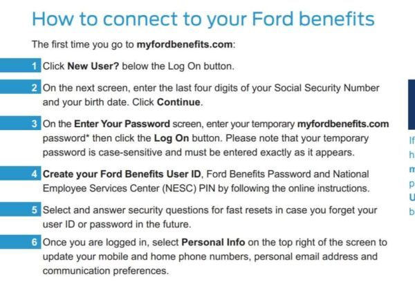 my ford benefits axz plan login for employees