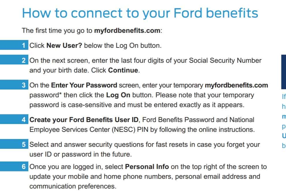 connect to your myfordbenefits account