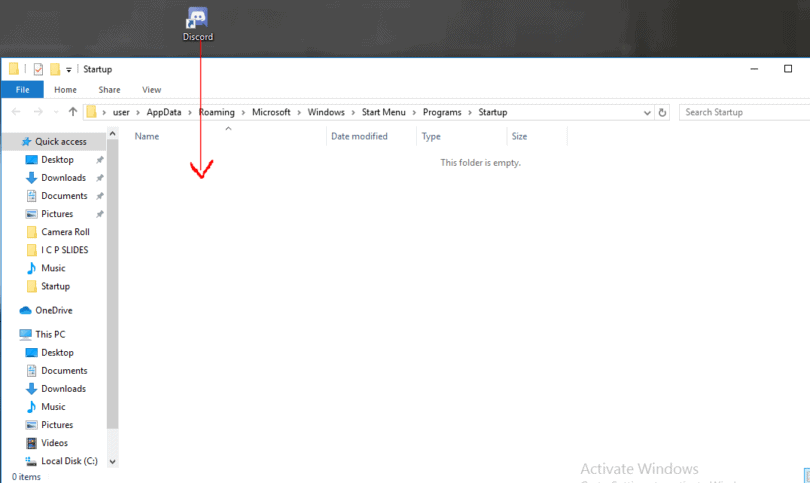 Adding programs to start up folder.