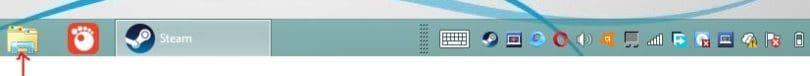 File Explorer Icon On Desktop Task Bar