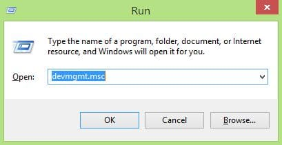 Device Manager Shortcut Via Run Box