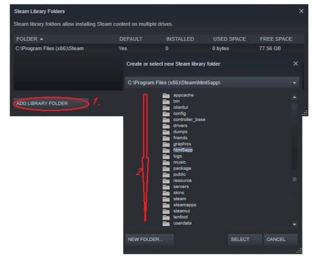 Steam Library Folders
