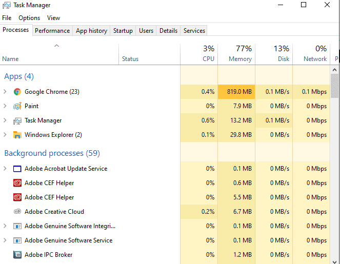Antimalware Service Executable High CPU usage