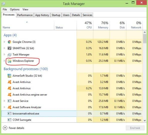 Windows 10 Task Manager With More Details