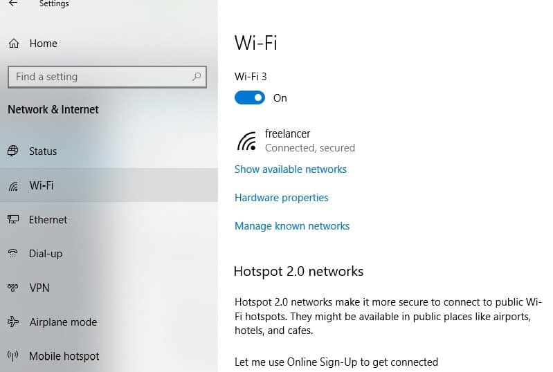 wifi- available networks image