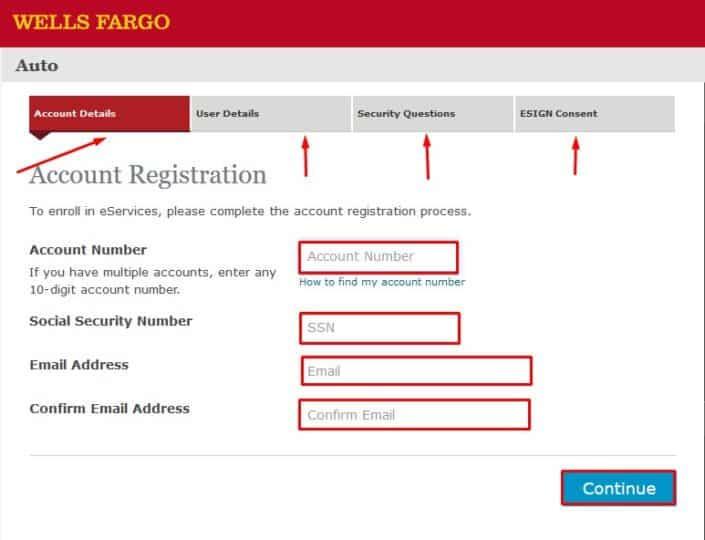 Wells Fargo Registration