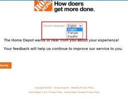 Home Depot Survey: Choose Language