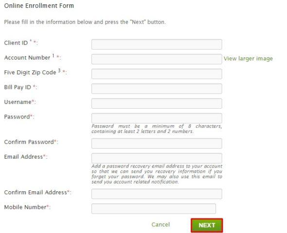 PayMyDoctor Online Enrollment form