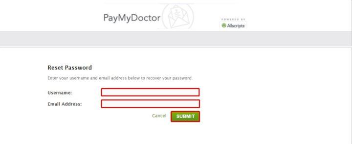 Reset Www.Paymydoctor.Com Password Online