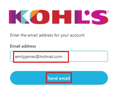 enter email address at Myhr.Kohls.Com