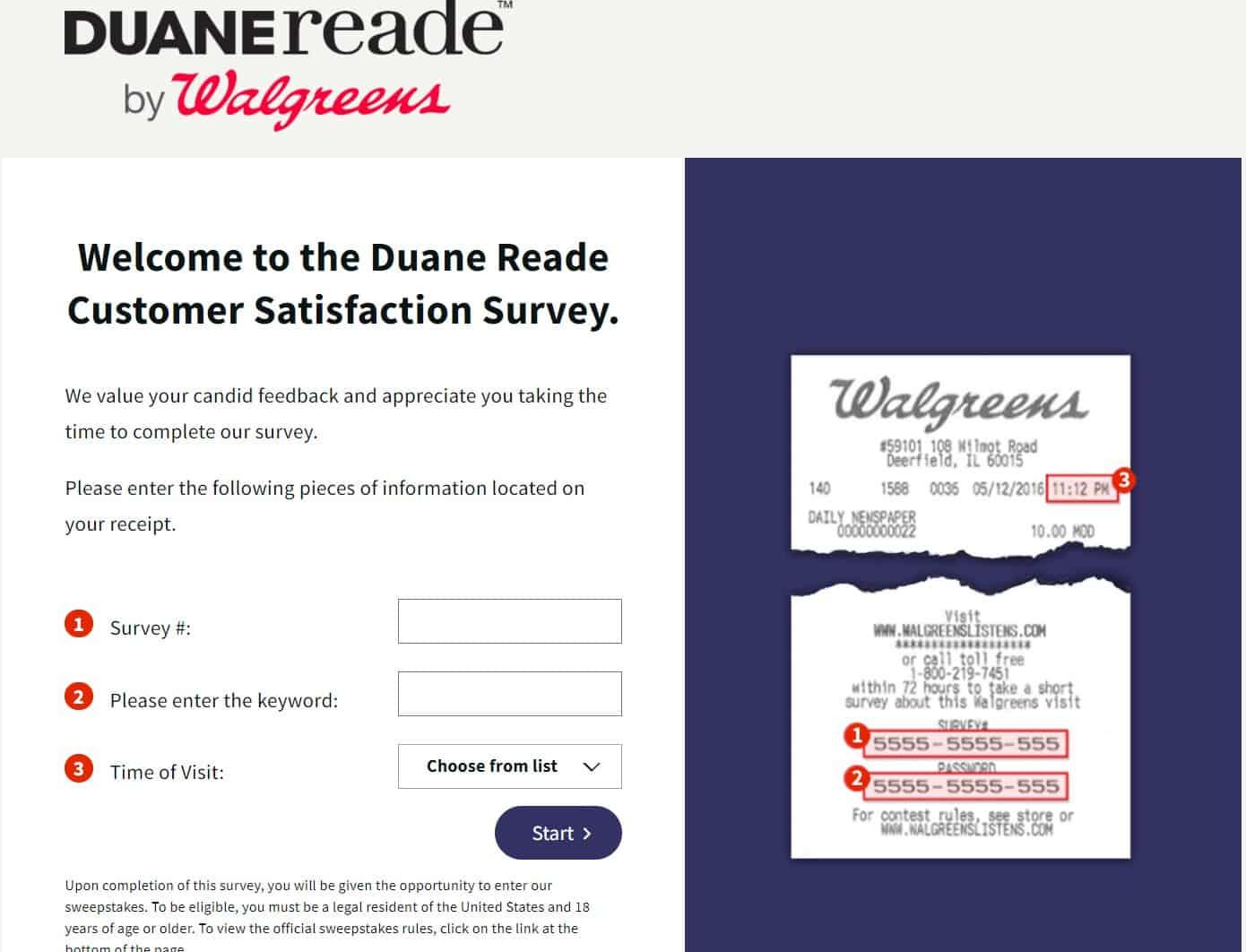 Walgreens Listens Online Feedback Survey