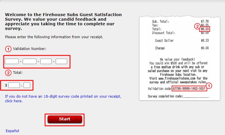 Start FirehouseListens Guest Satisfaction Survey