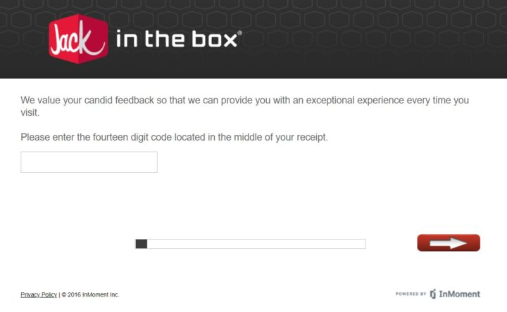 Jack in the Box 14 digit Code