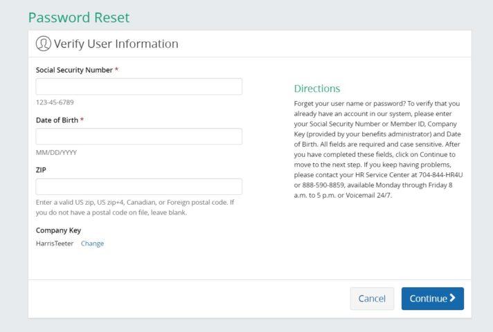 Reset MYHTSPACE Password