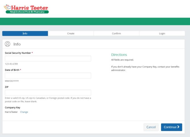 Sign up For Harris Teeter Employee Account